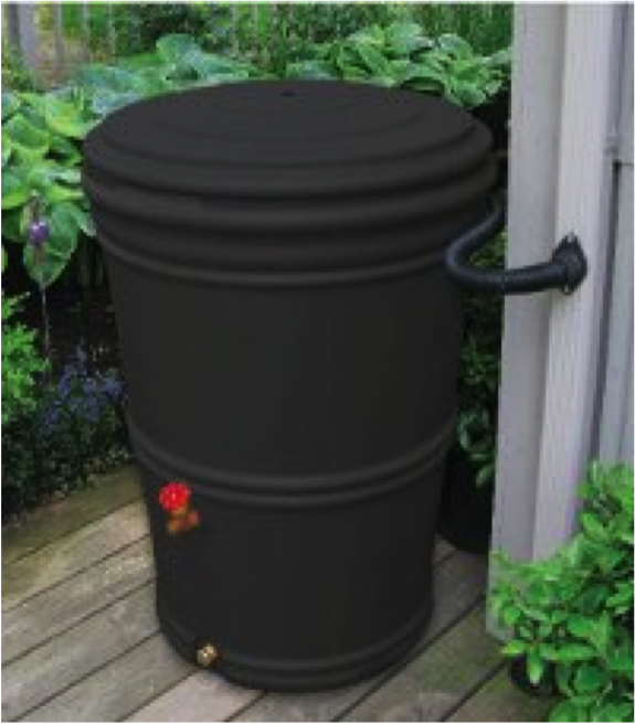 Bushman charcoal rain barrel