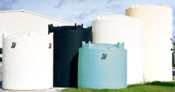 Snyder Industries vertical chemical storage tanks